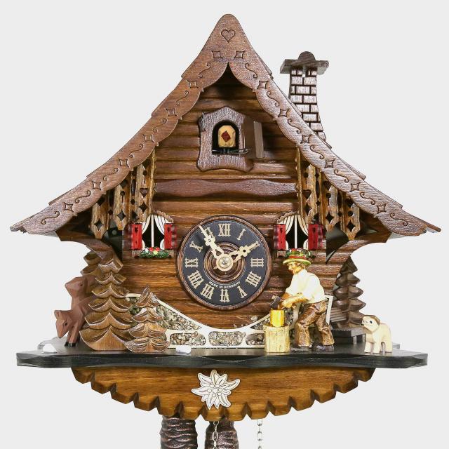 Cuckoo Clock -Chalet -Woodchopper
