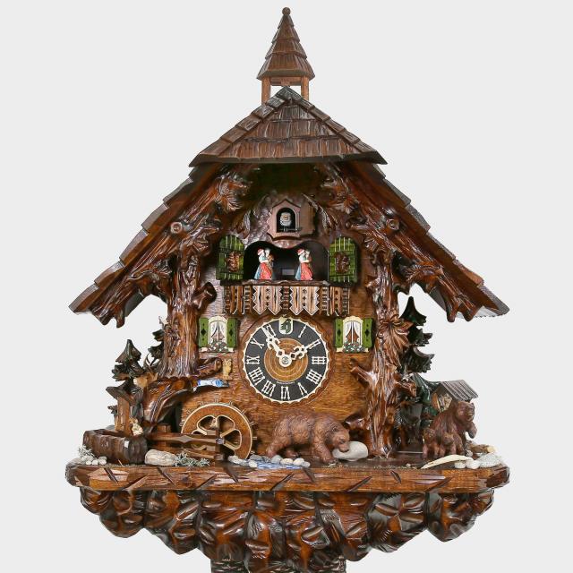 Cuckoo Clock - Black Forest House Bears
