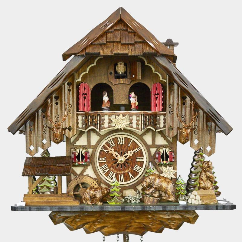 Cuckoo Clock - Black Forest House -Bears