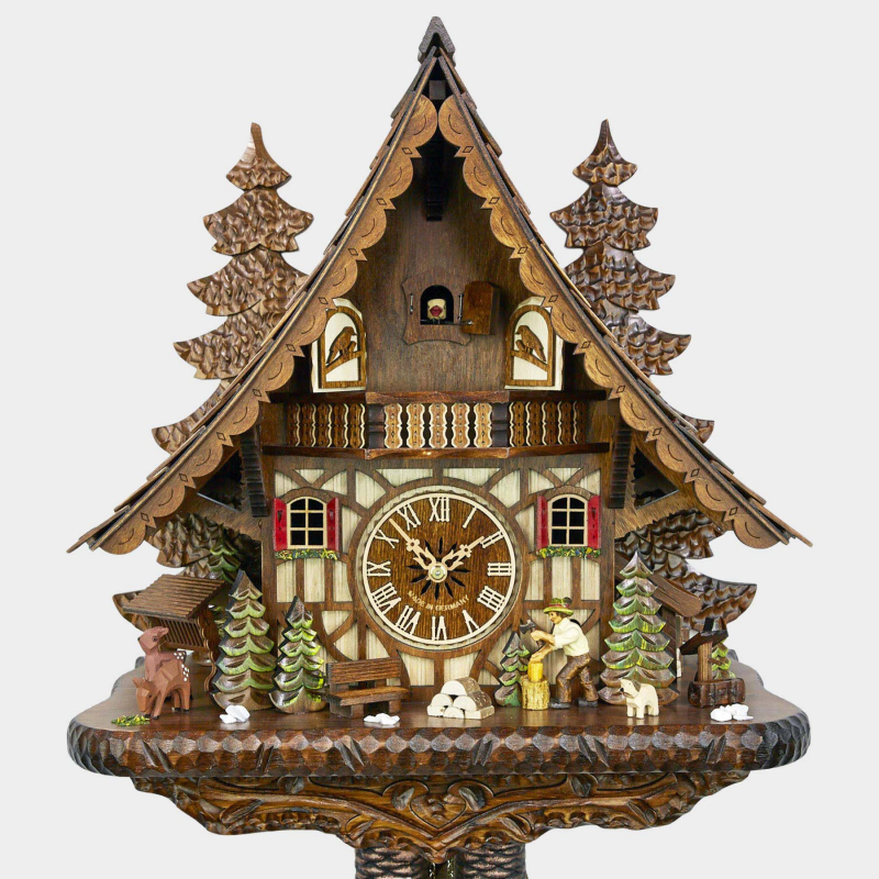 Cuckoo Clock - Chalet -Woodchopper