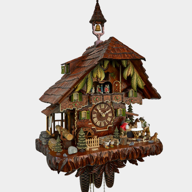 Cuckoo Clock - Black Forest House - Saw mill