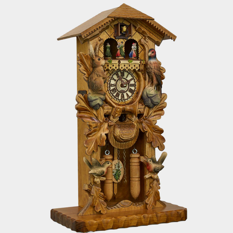 Cuckoo Clock - with detailed handcarvings
