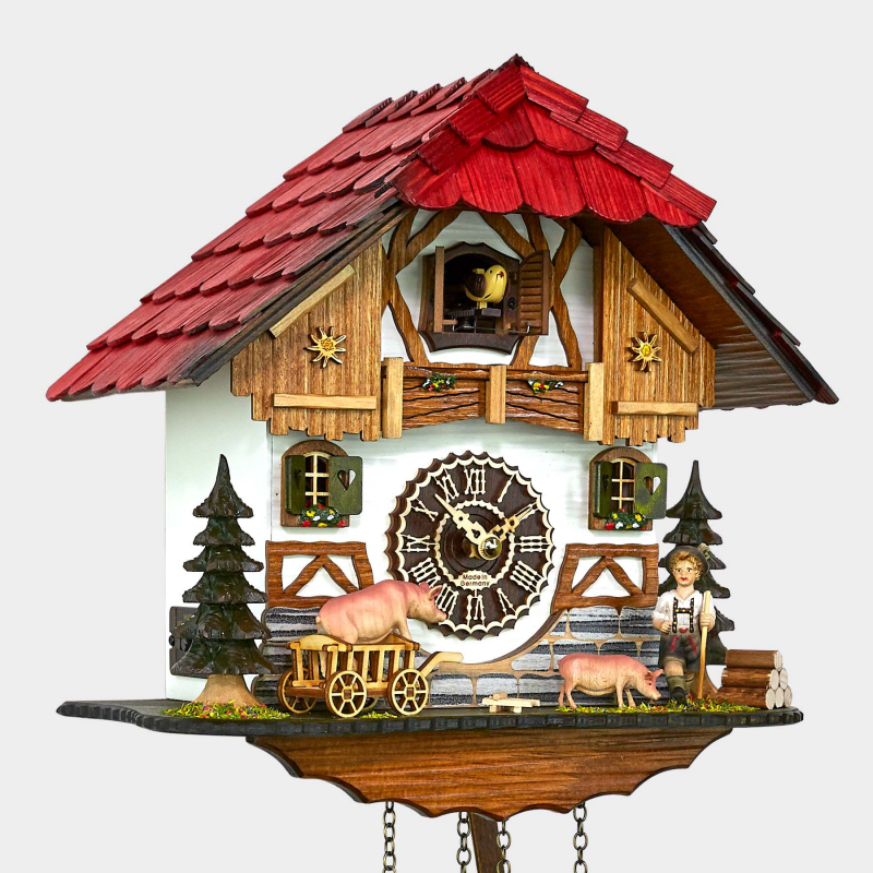 Cuckoo Clock - Black Forest House - Pigs