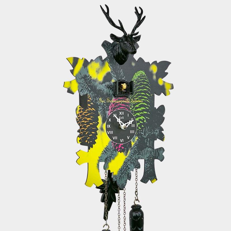 Modern Cuckoo Clock with decorative print