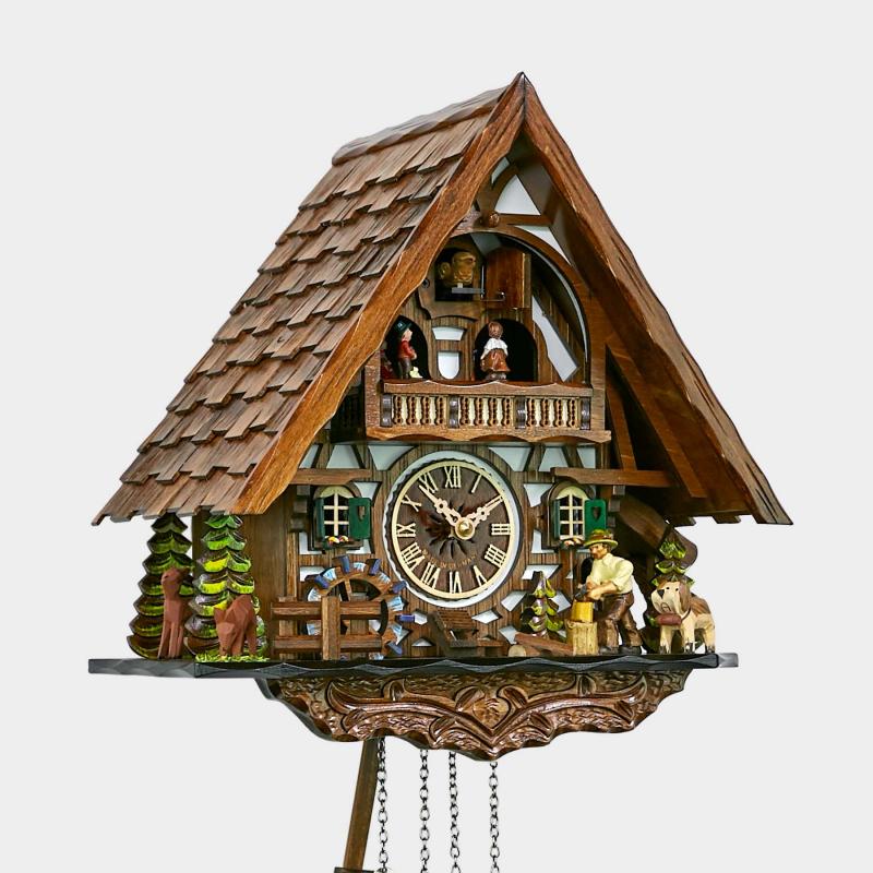Cuckoo Clock - Chalet - Woodchopper