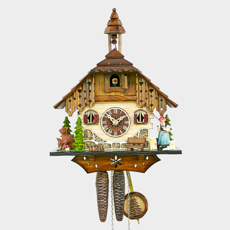 Cuckoo Clock - Black Forest House with Black Forest girl
