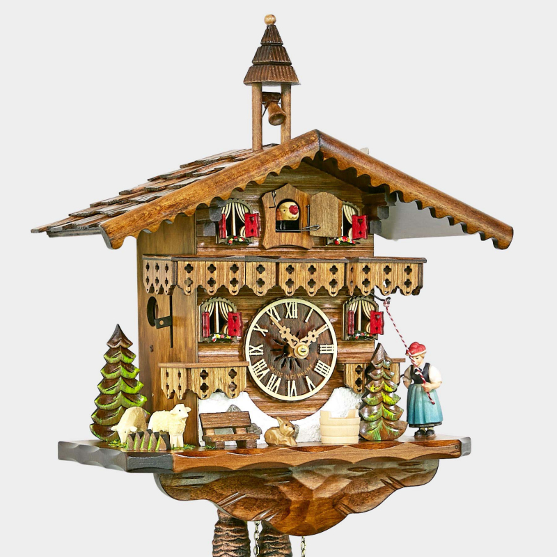 Cuckoo Clock - Chalet with Black Forest girl
