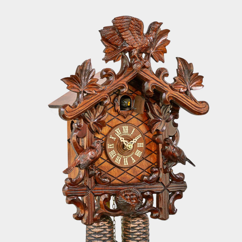 Cuckoo Clock - Carving with Birds