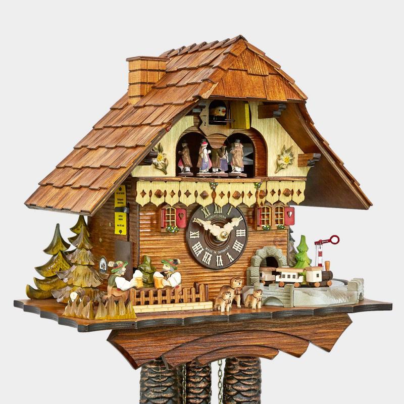 Cuckoo Clock - Black Forest House - Railroad Train