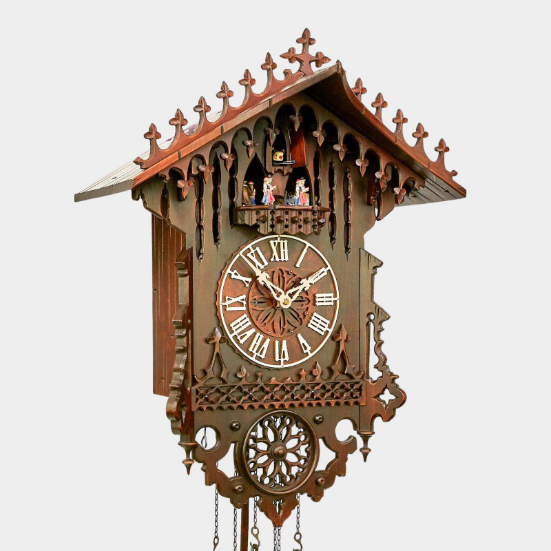 Cuckoo Clock - Gothico - with dancing group - exclusively offered by us