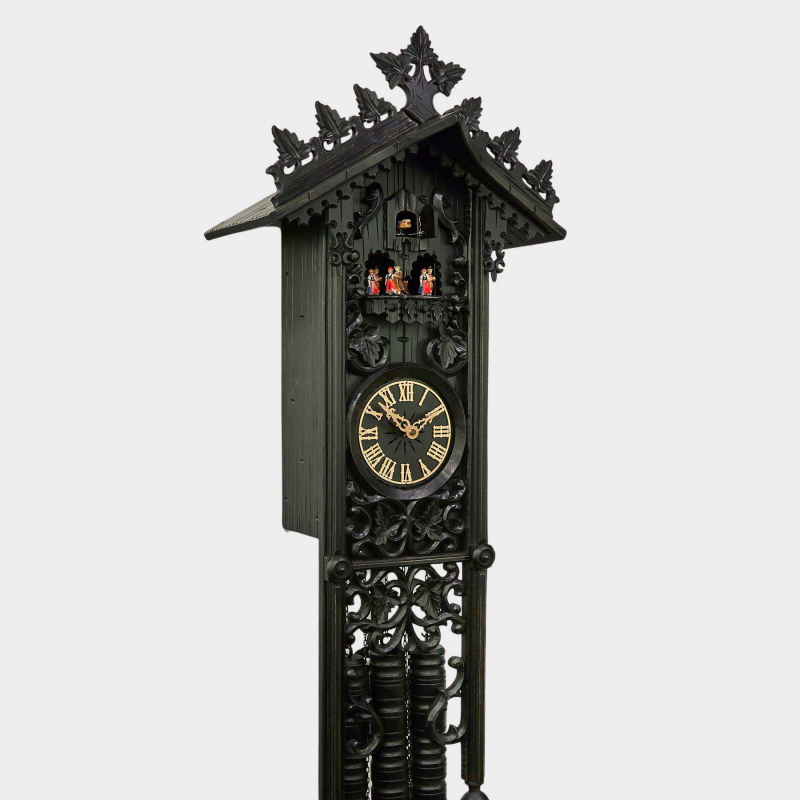 Cuckoo Clock - Railroad House with dancing group - offered exlusively by us