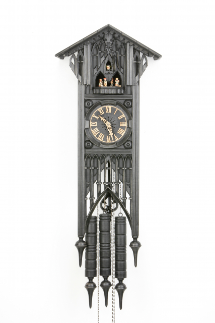 Cuckoo Clock - Gothic with dancing group - offered exclusively by us