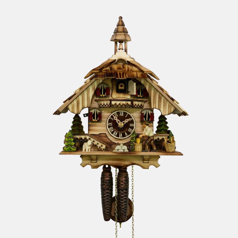 Pendule à coucou - Maison de la Forêt-Noire - déchiqueteuse à bois