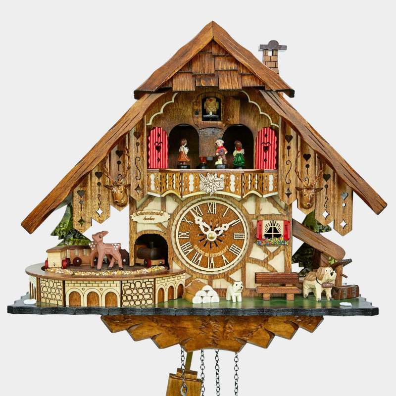 CUCKOO CLOCK - BLACK FOREST HOUSE - RAILROAD