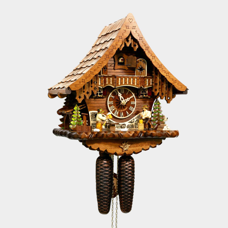 CUCKOO CLOCK - HOUSE - BEER DRINKER AND WOODCHOPPER