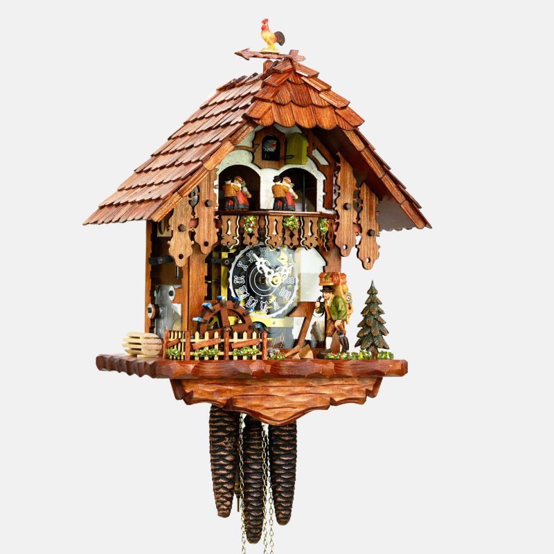 CUCKOO CLOCK - BLACK FOREST HOUSE - CLOCK CARRIER