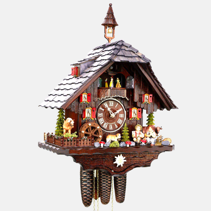 CUCKOO CLOCK - BLACK FOREST HOUSE - TIRED HIKERS