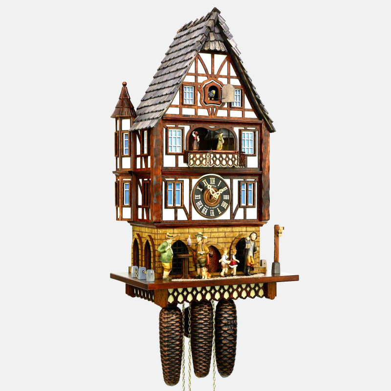 CUCKOO CLOCK - HALF-TIMBERED HOUSE