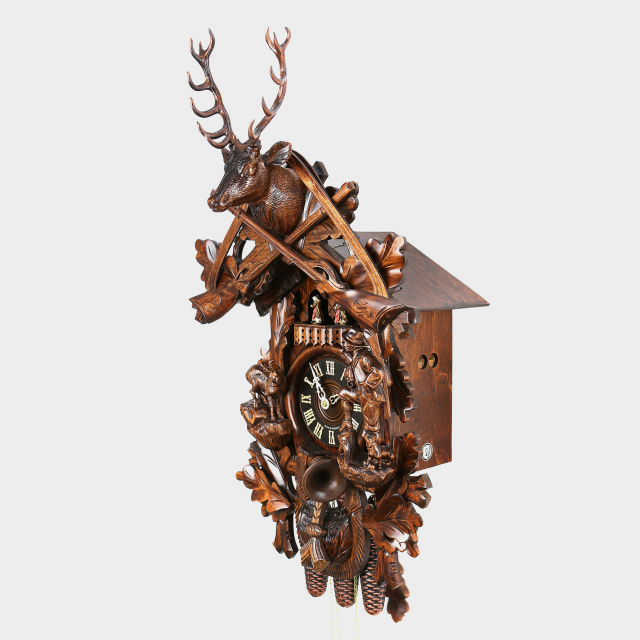 Original Cuckoo Clock Black Forest Hunter Design