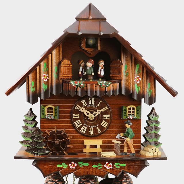 Cuckoo Clock Black Forest House Woodchopper