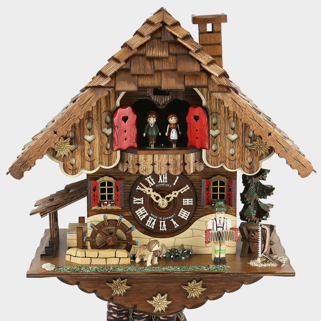 Cuckoo Clock - Black Forest House - Accordion Player