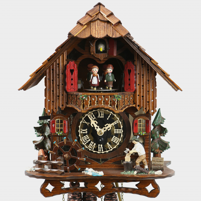 Reloj cuco - Casa de la Selva Negra leñador