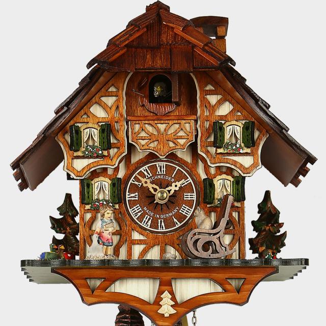 Kuckucksuhr schwarzwaldhaus original kuckucksuhren for Schaukelstuhl usa