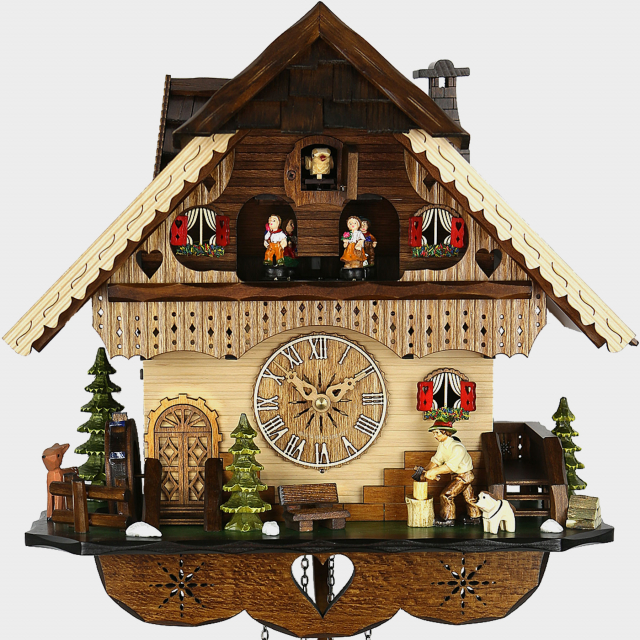 Cuckoo Clock  - Black Forest House  Woodchopper