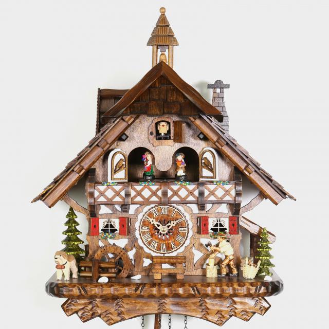 Cuckoo Clock - Black Forest House Woodchopper