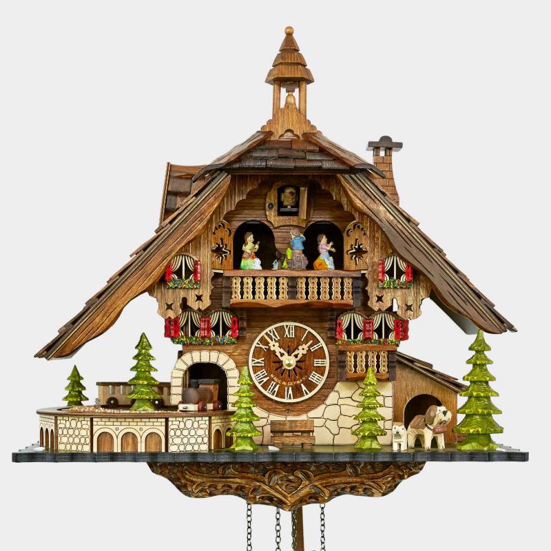 Cuckoo Clock - Black Forest House - Train