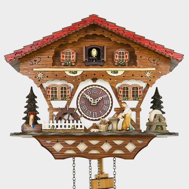 Cuckoo Clock  - Chalet Woodchopper