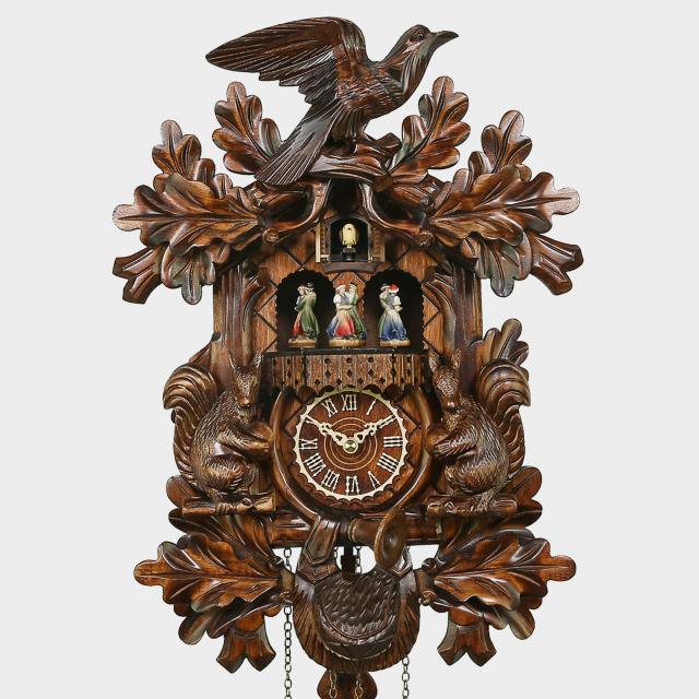 Orologio a cucù - motivo con uccelli