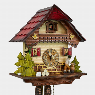 Cuckoo Clock - Black Forest House - Woodchopper