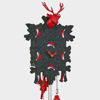 Modern Cuckoo Clock with embroidered felt