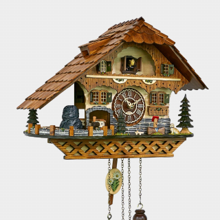 Cuckoo Clock - Black Forest House - Railroad Train