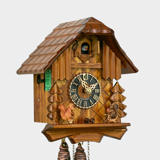 Cuckoo Clock - Black Forest House with squirrels