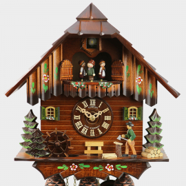 Cuckoo Clock Black Forest House Woodchopper